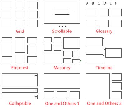 Seleziona il layout - Content Visualizzazioni Pro for WordPress