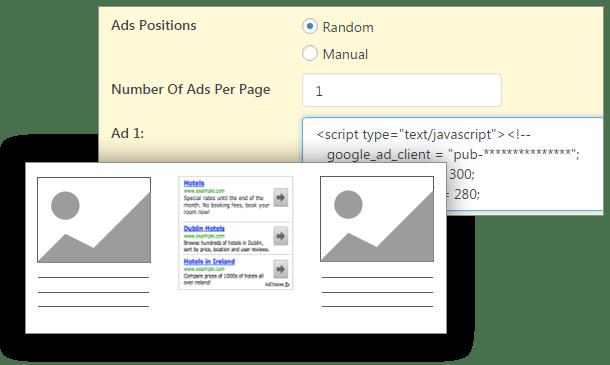Show advertisement - Contenuto Visualizzazioni Pro for WordPress