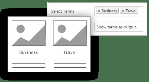 Mostra termine come uscita - Contenuto Visualizzazioni Pro for WordPress
