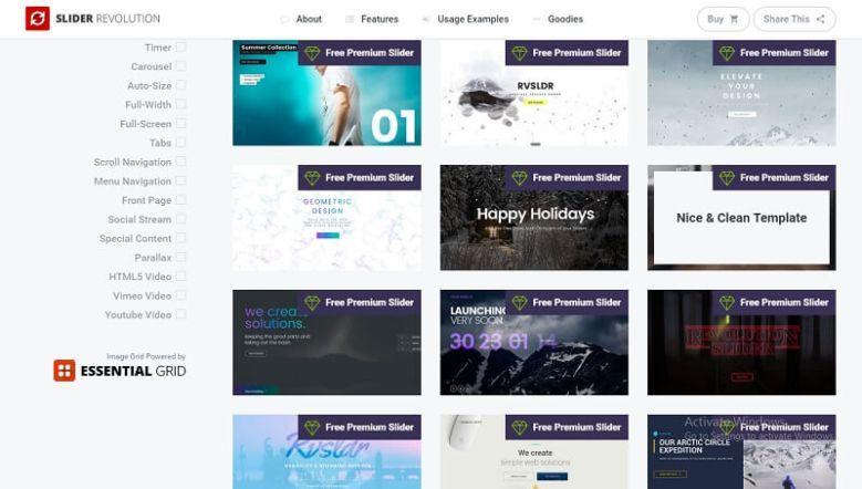 Slider Revolution Premium Templates Pack Download